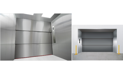 荷物用エレベーター図